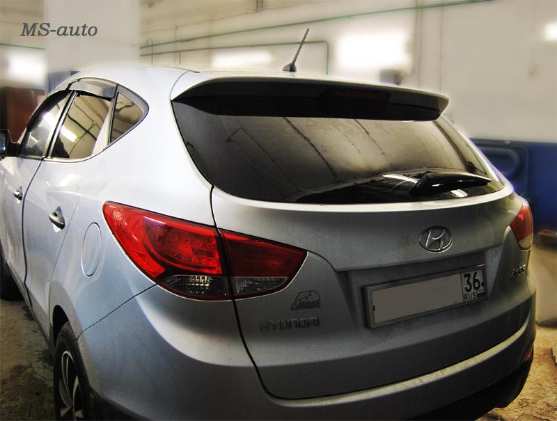 Тонировка заднего стекла в Воронеже, тонирование Hyundai фото