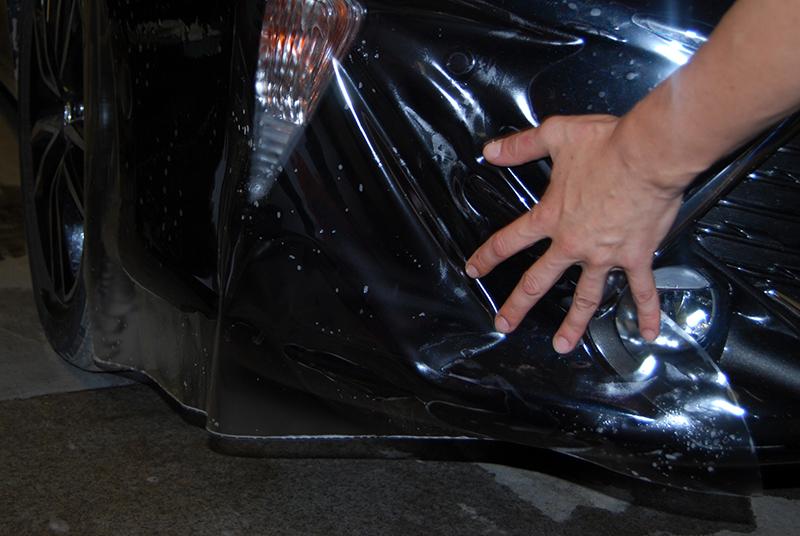 Антигравийная пленка на бампере Toyota Camry